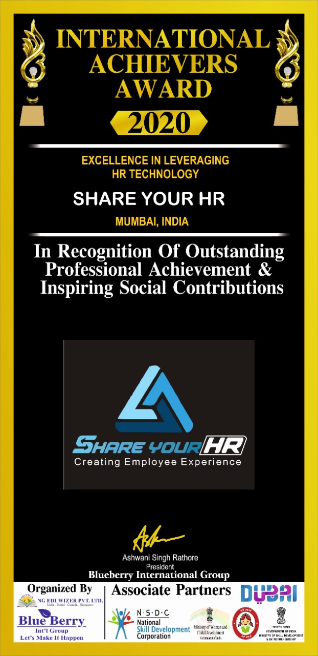 International Achievers Award 2020 - Excellence in Leveraging HR Technology